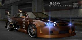 NFSU Nissan Skyline GT-R V-Spec Eddie