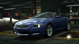 NFSW BMW M6 Convertible Blue
