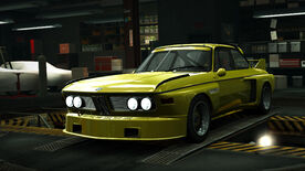 NFSW BMW 30 CSL Group 5 Yellow