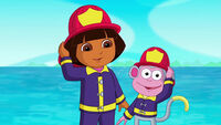 Firefighter Dora and Firefighter Boots