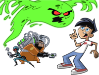 Danny Fenton cornered by a ghost