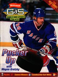 Nickelodeon Magazine GAS games and sports cover December 1999 Wayne Gretzky