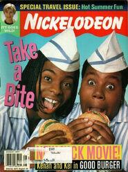 Nickelodeon Magazine cover August 1997 Kenan and Kel Good Burger