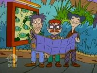 Stu, Chazz, and Howard reading zoo map