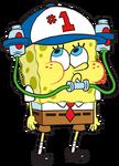 SpongeBob with soda drinking hat stock art