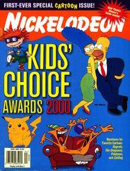 Nickelodeon Magazine cover April 2000 Kids Choice Awards