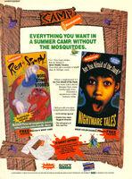 Camp Nickelodeon print ad Nick Mag June July 1994 Ren Stimpy Afraid Dark VHS