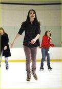 Miranda Cosgrove ice skating