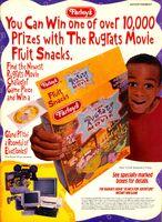 Rugrats movie fruit snacks print ad Nick Mag Nov 1998