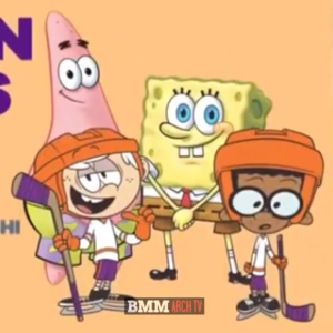 SpongeBob and Patrick with Clincoln McCloud (in their hockey outfits).PNG