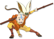Aang with Momo2
