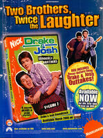Drake and Josh Suddenly Brothers DVD print ad Nick Mag March 2005