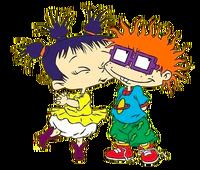 Kimi kissing Chuckie