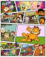 Modern Nicktoons welcome Garfield