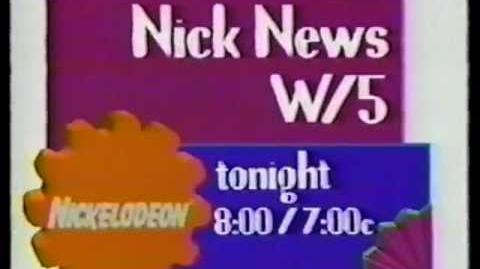 Nickelodeon Nick News W 5 1993 Promo