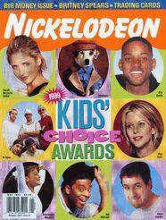 Nickelodeon Magazine cover May 1999 Kids Choice Awards