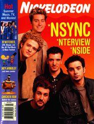 Nickelodeon Magazine cover June July 2000 Nsync