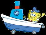 SpongeBob Driving Boat