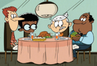 Howard and Harold McBride, Clyde's dads, with Lincoln from the Loud House