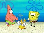 SpongeBob and Patrick defy physics