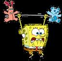 SpongeBob lifting weights stock art