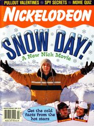 Nickelodeon Magazine cover January February 2000 Snow Day