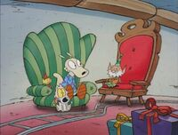 Rocko meets the father elf