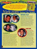 Nick.com behind the scenes Nickelodeon Magazine Sept 1999