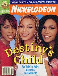 Nickelodeon Magazine cover September 2001 Destinys Child