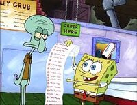 Spongebob list