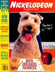 Nickelodeon Magazine cover Fall 1993 Zelda Van Gutters
