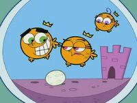Goldfish Cosmo, Wanda, and Poof