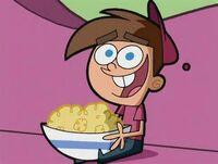 Timmy with popcorn
