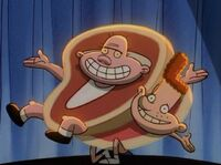 Steak Harold and Ham Eugene
