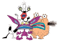 Ickis, Oblina, and Krumm