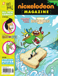 Nickelodeon-Magazine-August-2015-Issue-Front-Cover-Breadwinners-Sanjay-And-Craig-Papercutz-Nick-Mag-NickMag