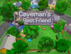 The Backyardigans Caveman's Best Friend Title Card with Boy the Dinosaur.png