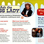 Nickelodeon Magazine March 1996 Ask the Boss Lady ooze news Geraldine Laybourne interview.jpg