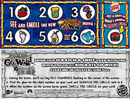 Burger King Rugrats Go Wild Odorama Card