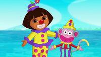 Clown Dora and Clown Boots