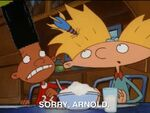 Hey Arnold Screen Shot Gerald Comes Over Arnold (With a Dart in his hair) and Gerald