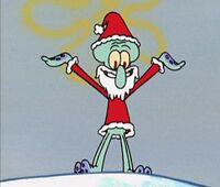Squidward as Santa