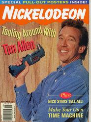 Nickelodeon Magazine cover Sept 1996 Tim Allen