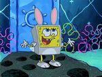 Spongebob in bunny suit