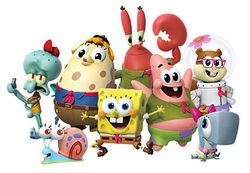The characters' CGI designs.