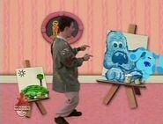 Steve loving Blue's Panting