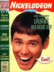 Nickelodeon Magazine cover March 1995 Jim Carrey