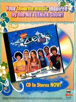 Zoey 101 music CD print ad Nick Mag March 2006