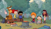 Annie, Pony and friends camping