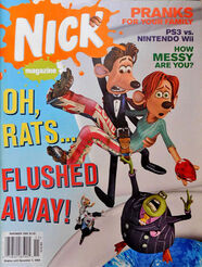 Nick Magazine cover Nov 2006 Flushed Away